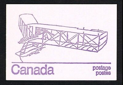 """Canada #586 Booklet AIRCRAFT """"BURGESS DUNNE"""" MINT - PO FRESH!"""