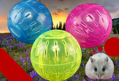1Pc Pet Rodent Mice Jogging Hamster Gerbil Rat Play Plastic Exercise Ball Toy PS