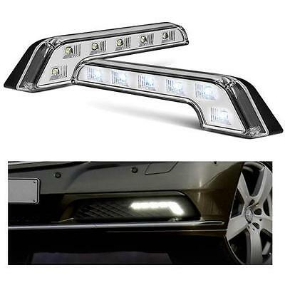 1 x Pair Universal L Shape Mercedes Style DRL Daytime Running Lights 6000k