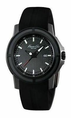 NEW Kenneth Cole KC1942 New York Men's Black Silicone Watch