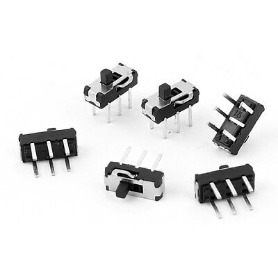 6 Pcs 2 Position DPDT 2P2T 6 Pin PCB Panel Miniature Vertical Slide Switch