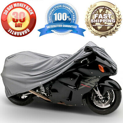 4-Layer Motorcycle Storage Cover Cotton Lined Waterproof Outdoor Dust Protection
