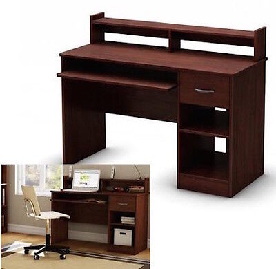 Student Computer Desk Cherry Wood Table Home Office Workstation Furniture  NEW