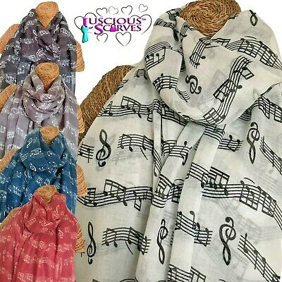 Music scarf with Musical Music Notes design Ladies superb Soft quality