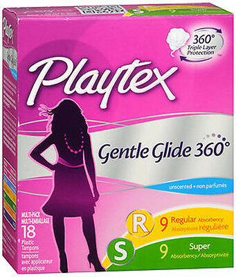 Playtex Tampon Gentle Glide Multi Pack Fresh Scent 18ct