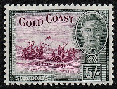 Gold Coast 1948 5s. surfboats, MH (SG#145)