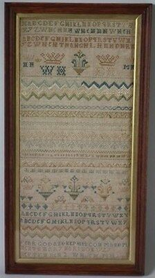Antique Band Sampler, 1727, by Mary Harison