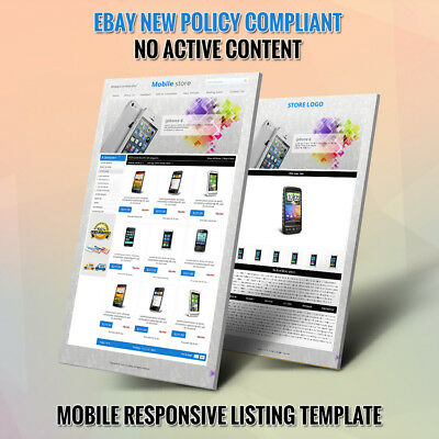 Professional eBay Store Shop Template | Listing Auction Template Dynamic Gallery