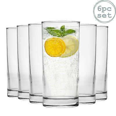 Hiball Tumbler Juice Dinner Drinking Highball Glasses - 285ml - x6