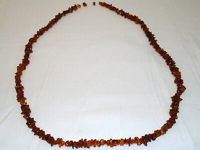 Antique Long Genuine Baltic Natural Amber Necklace 63 gr! Very Beautiful! 62