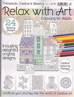 Relax with Art issue 3 - Art Therapy - Adult colouring Book - NEW