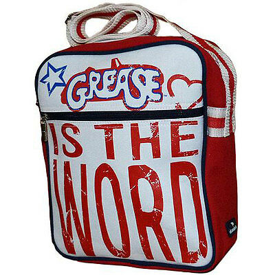Grease - Is The Word Canvas Satchel / Flight Bag - New & Official With Tag