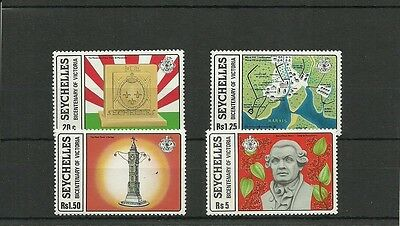Seychelles-Sg437-440-Bicentenary Of Victoria -Mnh
