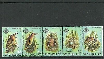 Seychelles-Sg523A-527-Birds 4Th Series -Mnh