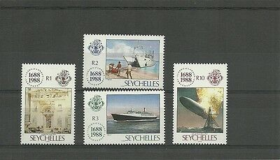 Seychelles-Sg701-704-Anniv Of Lioyds Of London-Mnh