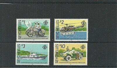 Seychelles-Sg705-708-Defence Forces Day-Mnh
