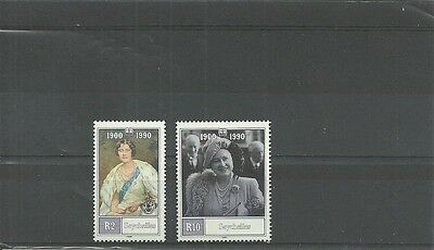 Seychelles-Sg782-783-90Th Birthday Of Queen Mother-Mnh