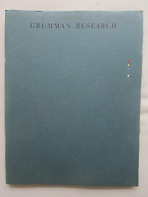 1963 Plaquette Grumman Research Hypersonic Hydrodynamic Space Simulation Nuclear