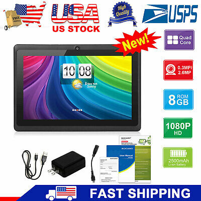 "7"" Tablet PC for Education Kids Children Android 4.4 Quad Core 8GB Camera KOCASO"