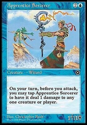 Stregone Novizio - Apprentice Sorcerer MTG MAGIC PO2 Portal Second Age Eng/Ita