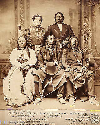 Five Indian Chiefs en route to Washington DC to meet President Ulysses S. Grant