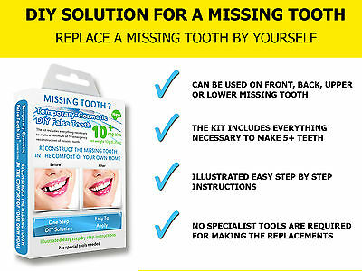 Best Value MISSING TOOTH TEMPORARY TEETH REPLACEMENT REPAIR FALSE DIY TEMP TOOTH