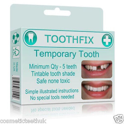 Tooth repair material missing tooth replace temporary false teeth cosmetic DIY