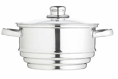Kitchen Craft New Stainless Steel Universal Steamer Insert - Fits Most Pans