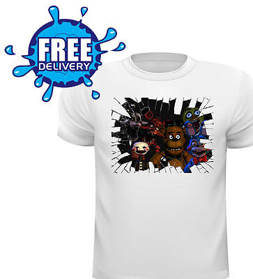 Five Nights At Freddy's T Shirt All Sizes Great Xmas Gift Broken Glass Gang