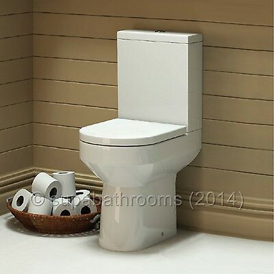 Harmony Ceramic Close Coupled WC Toilet Pan, Cistern & Seat