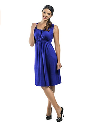 NEW! My Bella Mama Sleeveless Maternity Nursing Breastfeeding Dress - Athena