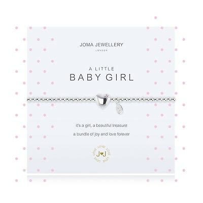 Joma Jewellery baby girl silver plated bracelet heart crystal NEW MUM gift