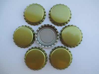 500 Uncrimped Gold Crown-caps for Capping Home brew Beer (Free S&H)