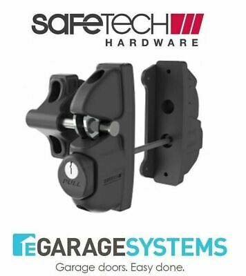Safetech Gravity Double Sided Gate Latch & Fixed Tension Hinges SLV-X2-F90L