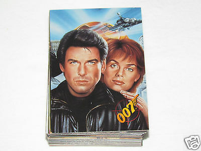 1995 JAMES BOND GOLDENEYE Movie Complete Trading Card Set #1-90 Graffiti Cards