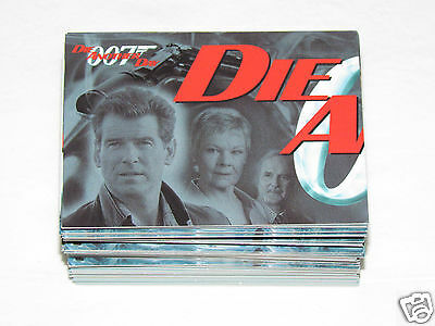 2002 JAMES BOND DIE ANOTHER DAY Complete Trading Card Set #1-90 Rittenhouse 007