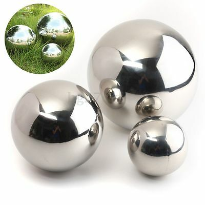 Stainless Steel Mirror Sphere Polished Hollow Ball 9/13.8/18cm Garden Ornament