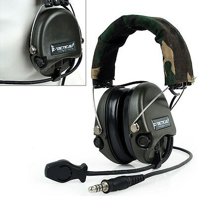 Airsoft Gear Swat Z-Tactical Style Military Headsets Microphone Radio Outdoor