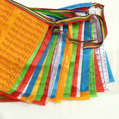 Brocade Buddhism Prayer Flag 196 Inch Long Buddhist LongDa Scriptures Flag