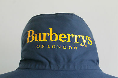 Men´s Burberrys Jacket Vintage Classic Dark Blue Bomber Harrington Size L Good