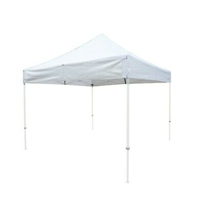 E-Z UP 10' x 10' Replacement Canopy Top Cover | Sign Display Holder, White