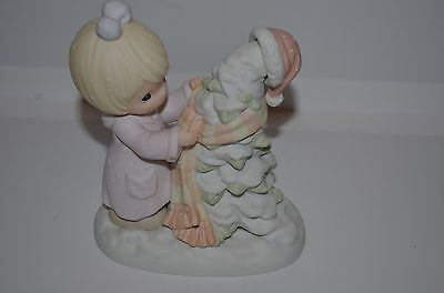 "Precious Moment Figurine "" Have A Cozy Country Christmas"" 1998-455873"
