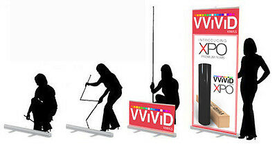 """Retractable 32""""wide 79"""" tall Display Banner Stand Trade Show Poster CL-R-S-3"""