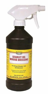 Scarlet Oil Wound Cuts & Abrasions Dressing With Sprayer 16oz Durvet