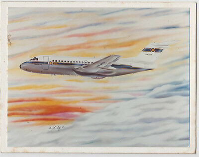 Greetings card Department of Transport Australia Flying Unit aeroplane at front
