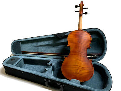 New Full Size 4/4 Acoustic Flamed Concert Violin-With Case And Bow-German