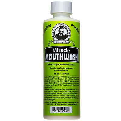 Uncle Harry's Natural Alkalizing & Detoxifing Mouthwash (8 fl oz)