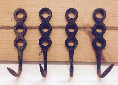 Very Unique Hand Made Antique Figure 8 Design Wroght Iron Wall Hooks