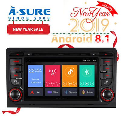 "Android 5.1 7"" Car DVD Player GPS Sat Nav Bluetooth for Audi A3 S3 2003-2011DAB+"