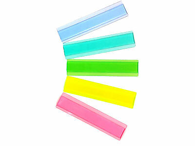 Deluxe Durable Plastic Eye Lighter Reading Guide Strip 5 Pack w/ New Aqua Color